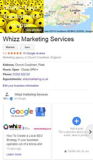 whizz marketing gmb profile