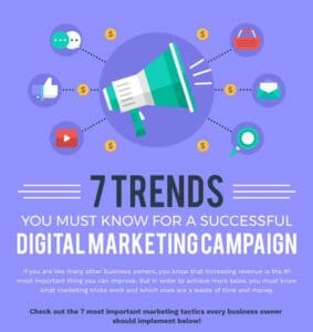 Digital Marketing Success Infographic