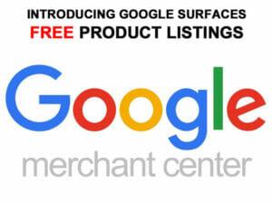 Free product listings on google